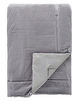 Austen Pleated Grey Throw