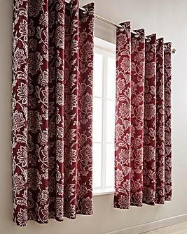 Orla Jacquard Eyelet Lined Curtains