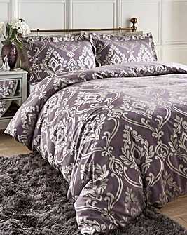 Baroque Jacqaurd Mauve Duvet Cover Set