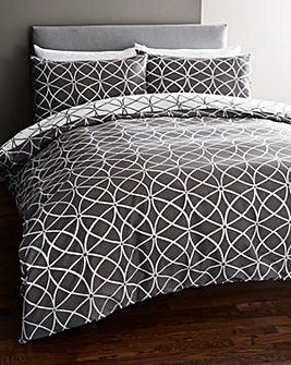 Montana Charcoal Duvet Cover Set