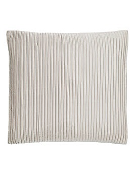 Austen Pleated Natural Square Cushion