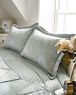 Windsor Jacquard Duck Egg Pillowshams