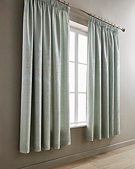 Windsor Jacquard Duck Egg Lined Curtains