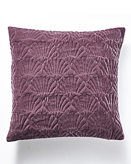 Shells Velvet Quilted Cushion