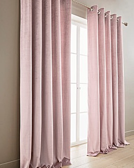 Luxury Textured Velvet Eyelet Curtains