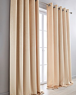 Luxury Textured Velvet Eyelet Curtains