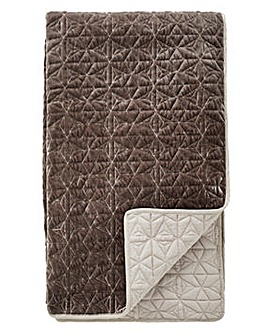 Geo Velvet Quilted Throw