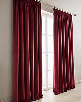 Luxury Velour Pencil Pleat Long Curtains