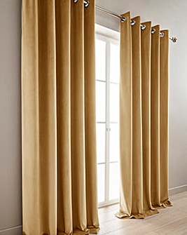 Luxury Heavyweight Velour Lined Eyelet Curtains