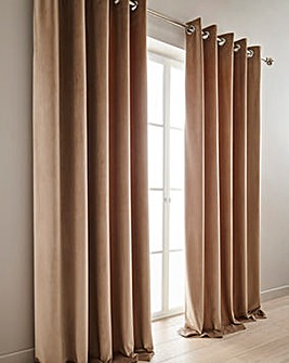 Luxury Velour Lined Eyelet Curtains
