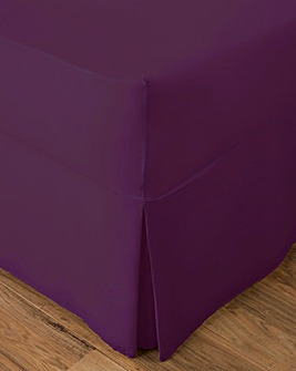 Easy-Care Plain-Dyed Fitted Valance Sheet