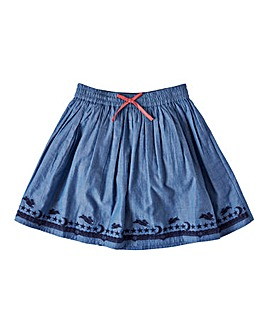 Joe Browns Girls Embroidered Denim Skirt