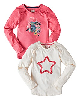 Joe Browns Girls Pack of Two L/S Tops
