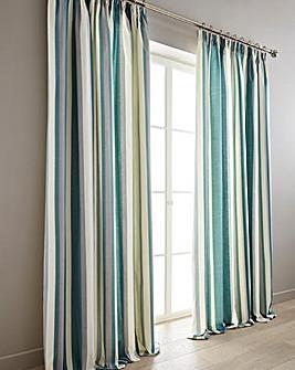 Hampton Printed Stripe Lined Curtain