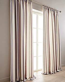 Hampton Printed Stripe Lined Curtain