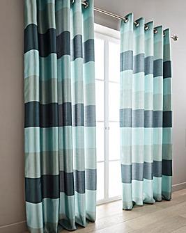 Printed Faux Silk Stripe Curtains