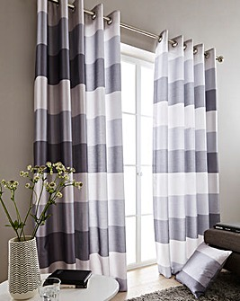 Printed Faux Silk Stripe Curtains