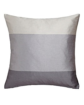 Printed Faux Silk Stripe Cushion