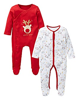 KD Baby Christmas Pck2 Sleepsuits