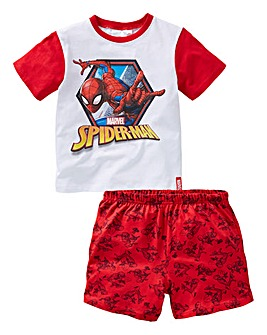 Spiderman Boys S/S Pyjama Shorts Set