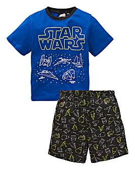 Star Wars Boys Glow In the Dark PJ Set