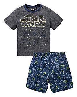 Star Wars Boys Glow In the Dark PJ Set