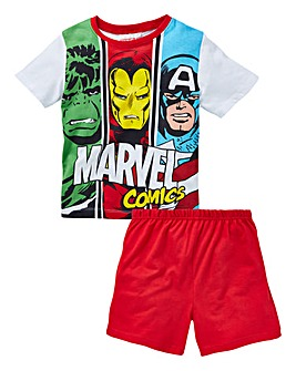 Marvel Boys S/S Pyjama Shorts Set