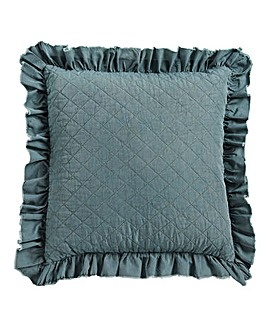 Ruffle Stone Wash Filled Cushion 45 x 45cm