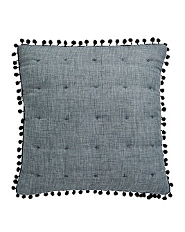 Pom Pom Square Filled Cushion 43 x 43cm