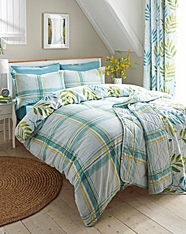 Kew Teal Reversible Duvet Cover Set