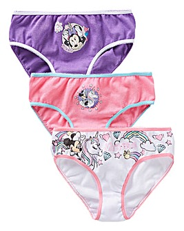 Minnie Mouse Girls Pack of Three Briefs