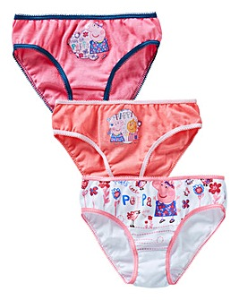 Peppa Pig Girls Pack of Three Briefs