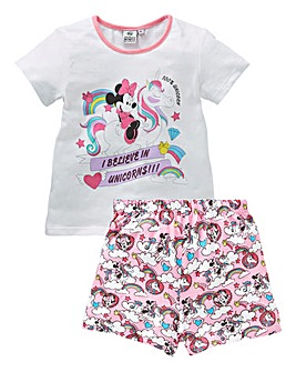 Minnie Mouse Unicorn Girls PJ Short Set
