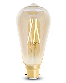 4LITE ST64 Filament Bulb Amber B22