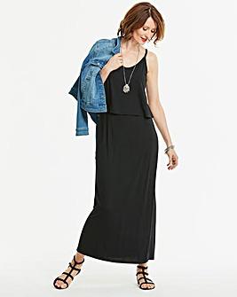 Stretch Layer Maxi Dress