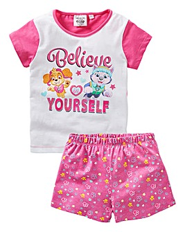 Paw Patrol Girls Pyjama Short Set