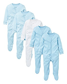 KD Baby Boy 5 Pack Sleepsuit Set