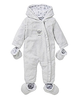 KD Baby Unisex Fleece Pramsuit
