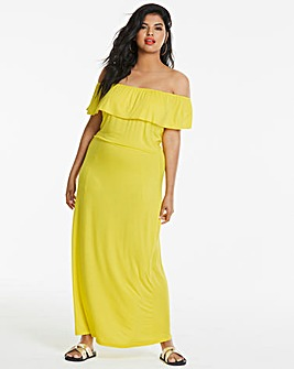 Yellow Bardot Maxi Dress