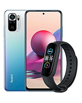 XIAOMI Redmi Note 10S Blue AND FREE Smart Band 5