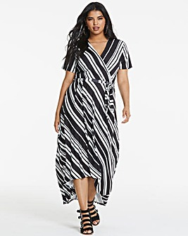 Stripe Dipped Back Dress