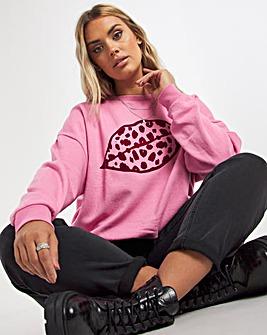 Pink Lips Sweatshirt