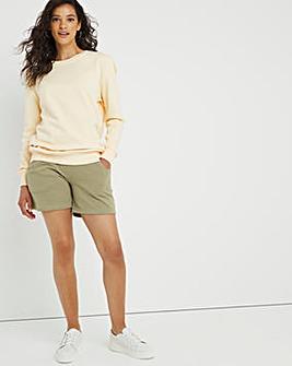 Dusty Olive Sweat Shorts
