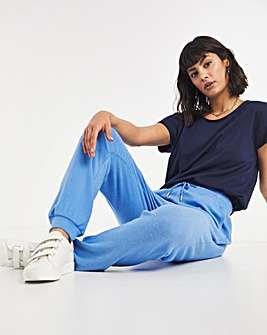 Blue Soft Touch Cuff Jogger