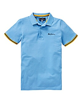 Ben Sherman Boys Collar Print Polo