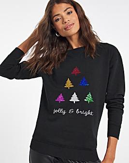 Black Novelty Sweatshirt