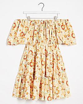 Lovedrobe Ruffle Bardot Mini Dress