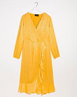 Lovedrobe Mock Wrap Midi Dress
