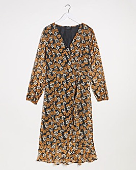 Lovedrobe Puff Sleeve Wrap Dress