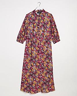 Lovedrobe Print Flip Hem Midi Dress